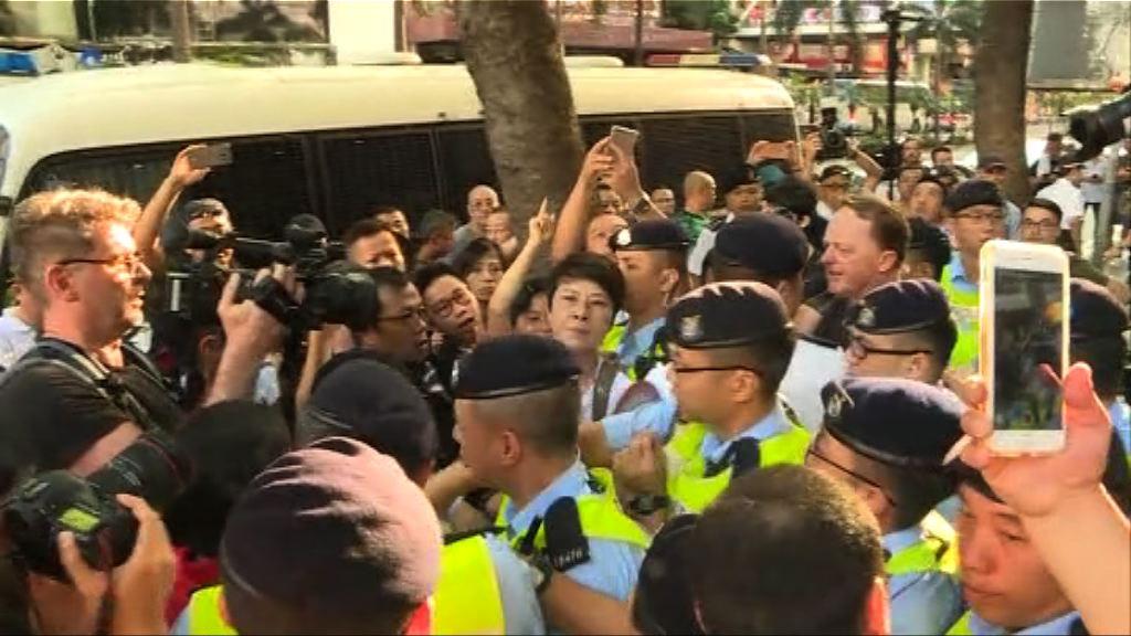 社民連遊行前起衝突 警方讉責暴力