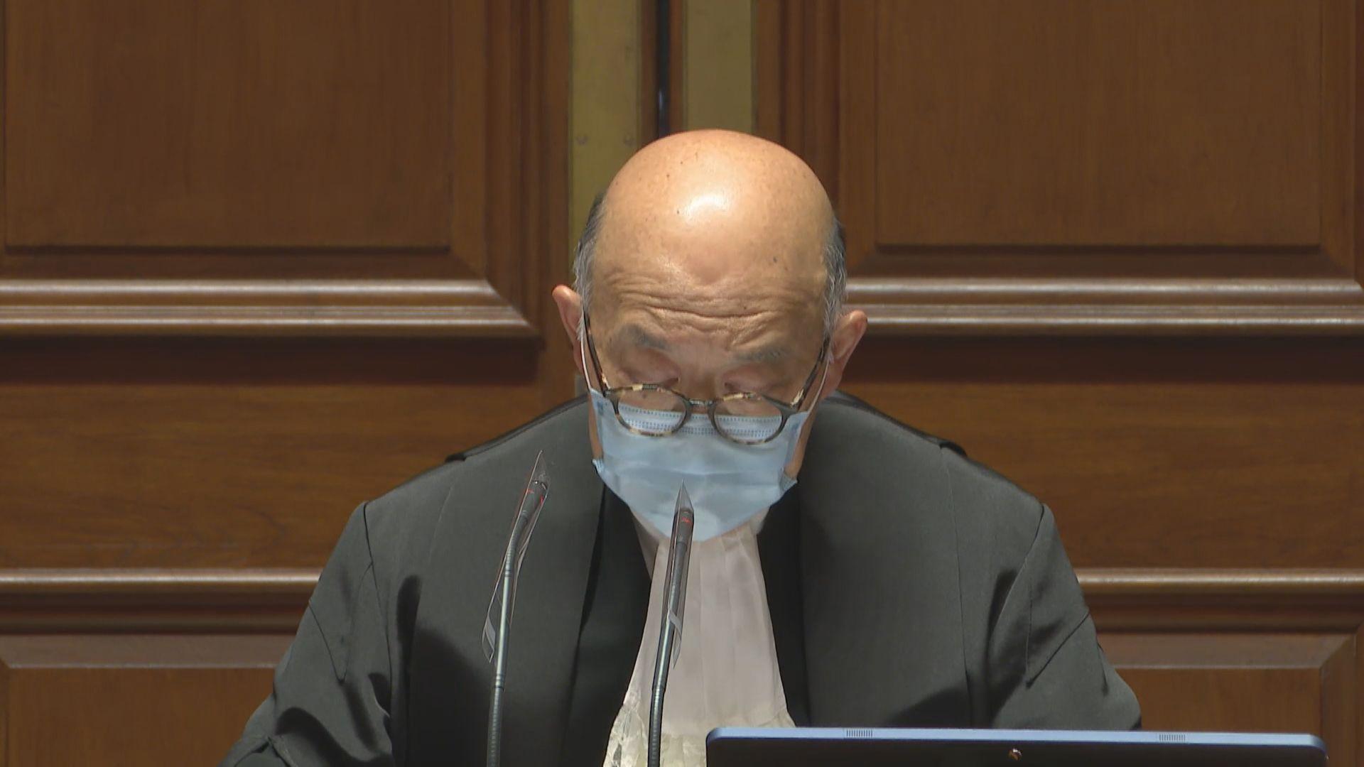 馬道立:一向反對把司法機構及法院工作政治化