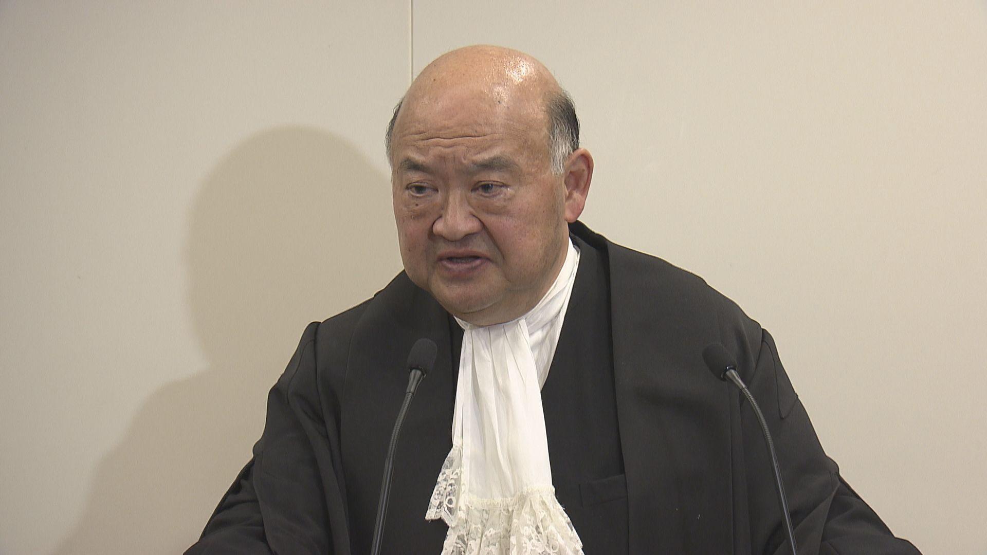 馬道立:法官不應在判辭發表無必要的政見