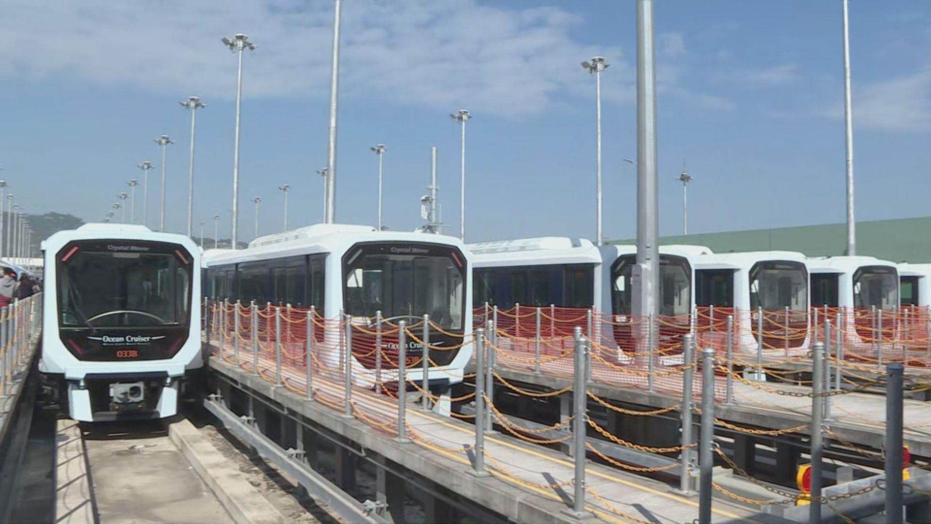 澳門輕軌列車開通 連接氹仔客運碼頭至海洋花園