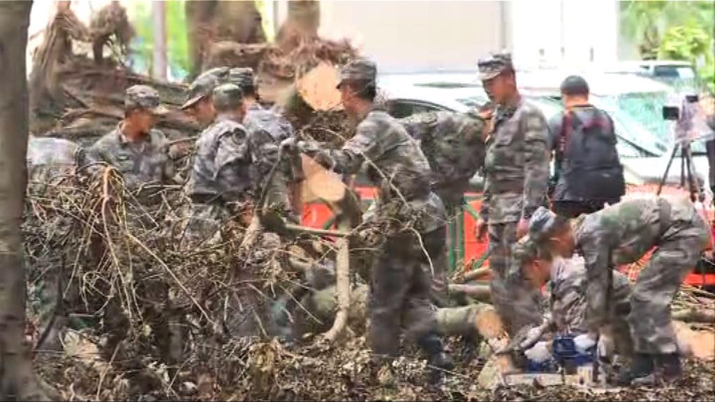 駐澳部隊完成救災返回駐地