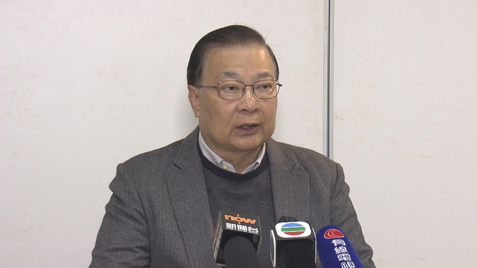 譚耀宗:讓遭DQ議員返回立法會做法矛盾