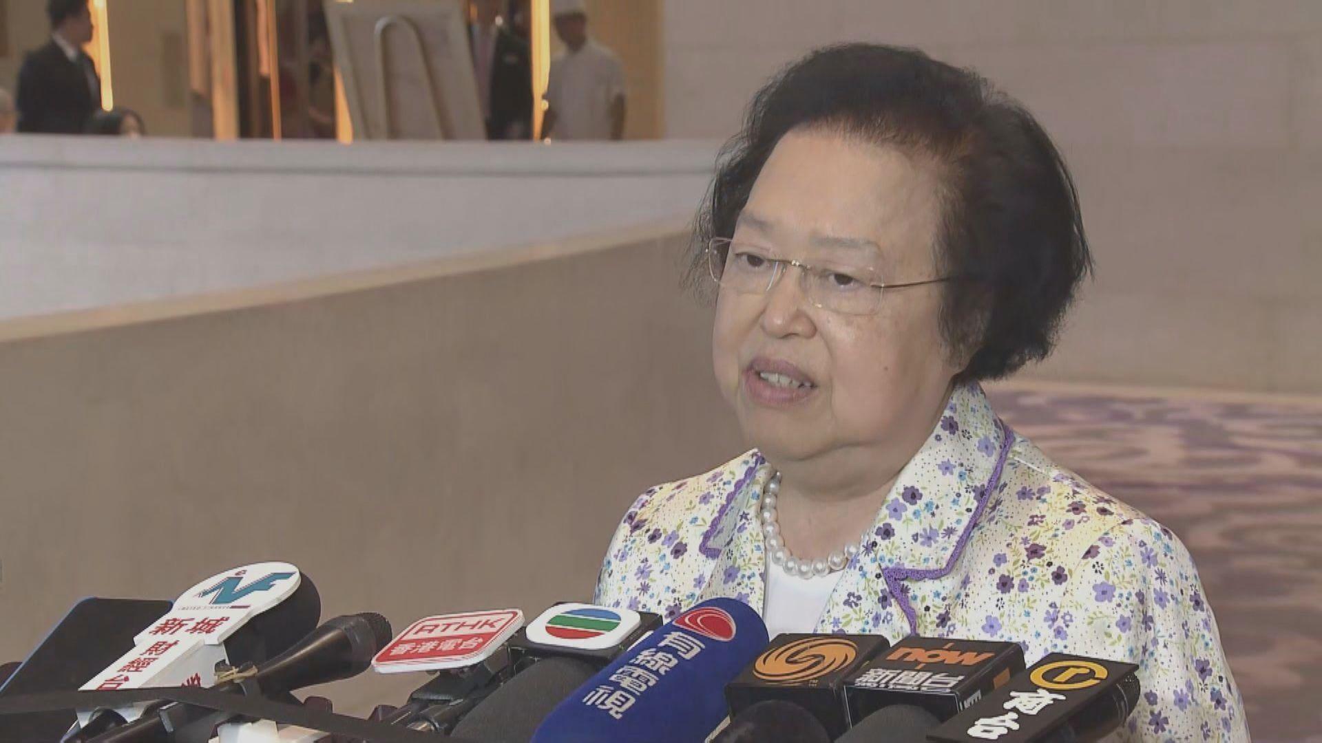 譚惠珠:人大常委會根據憲法賦予權力作立法會延任決定