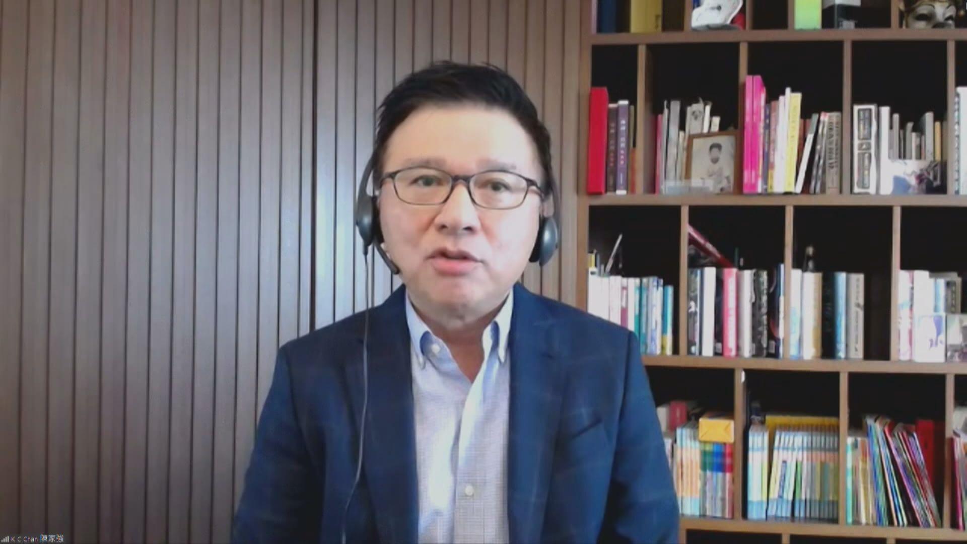 陳家強:香港可考慮引入創業、生物科技公司上市