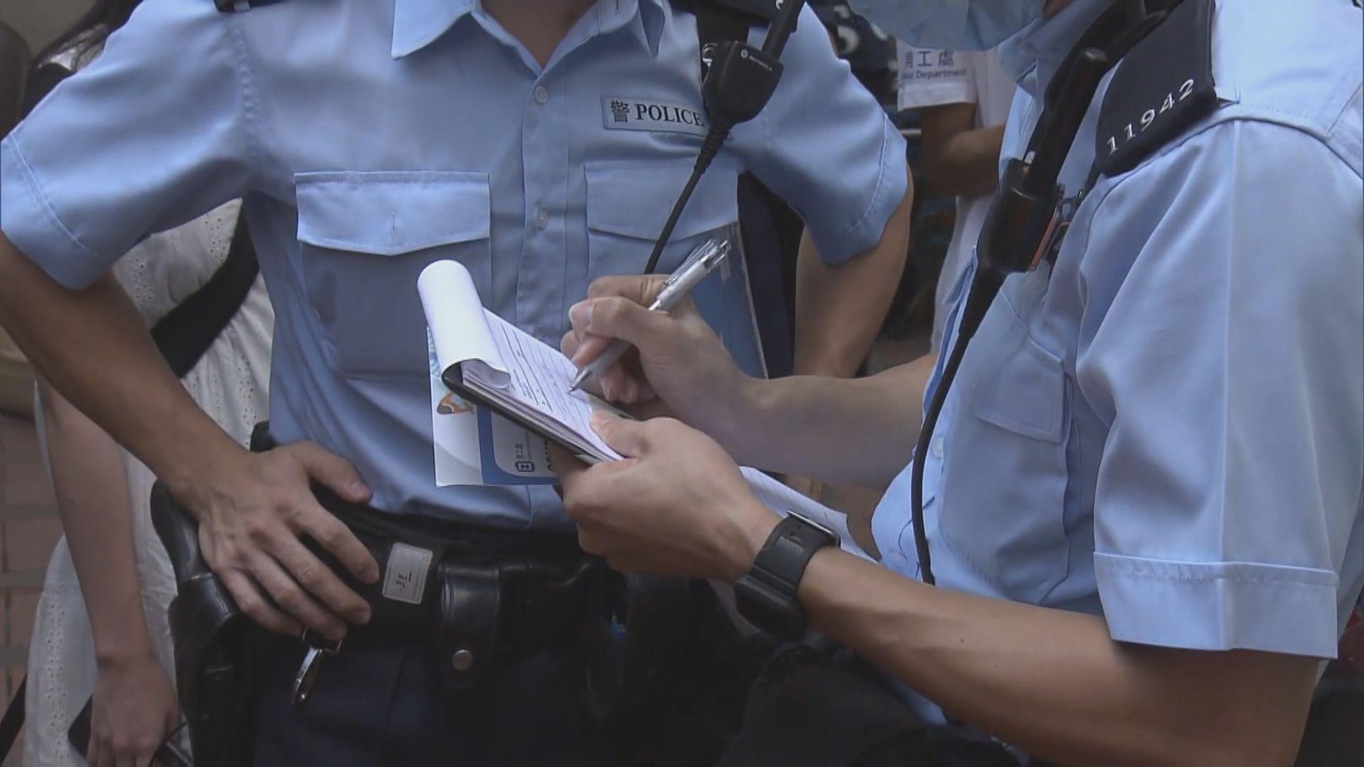 警方等再到外傭聚集熱點執行限聚令 向部分人發告票
