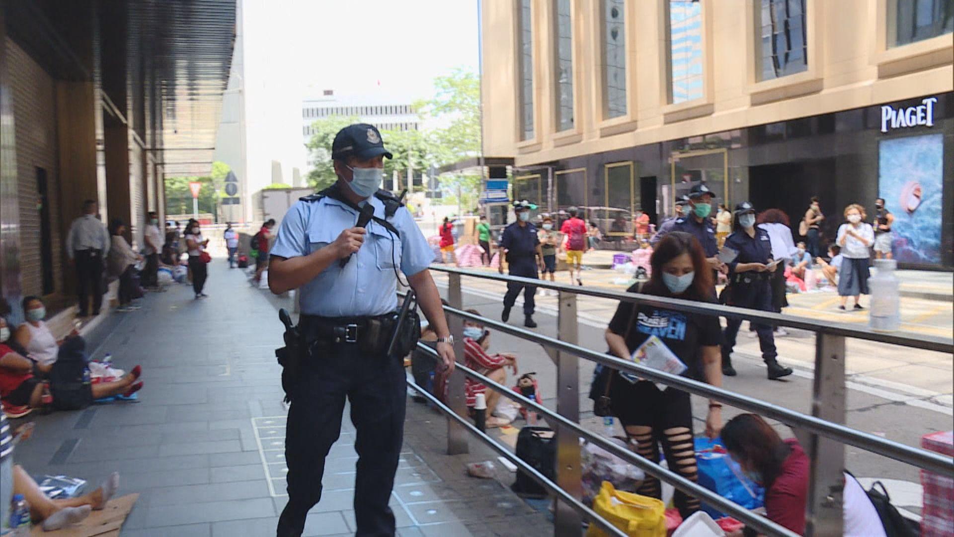 外傭放假聚集 警方加強巡邏執法
