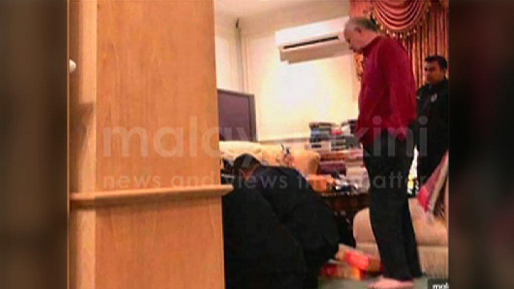 大馬前總理納吉布對搜查感困擾