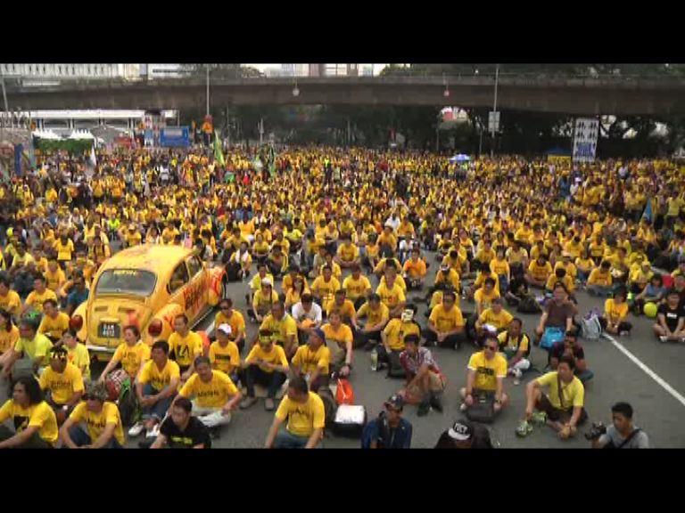馬哈蒂爾再現身馬來西亞反政府集會