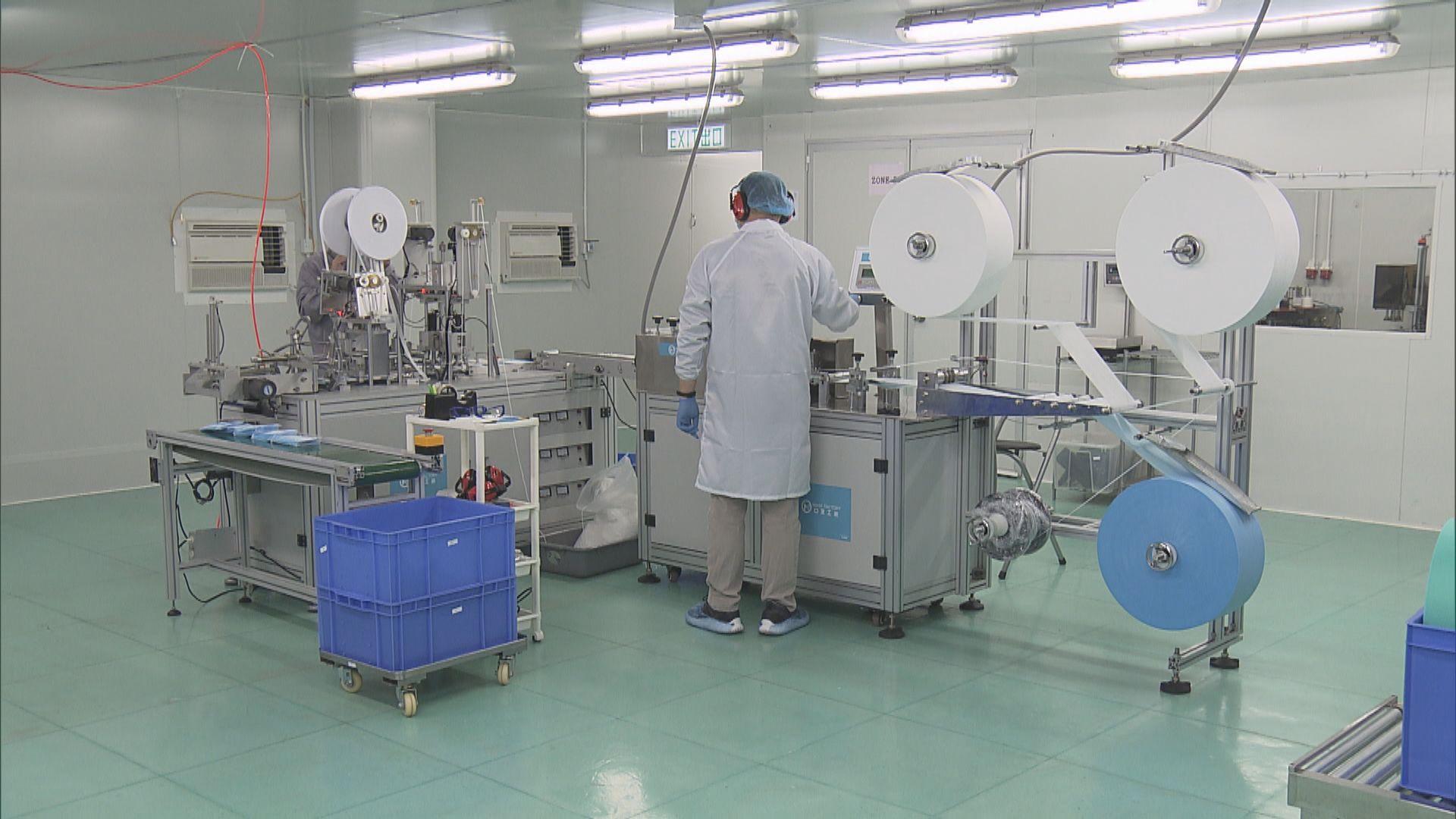 政府與19條口罩生產線簽約 本月下旬起向政府供貨