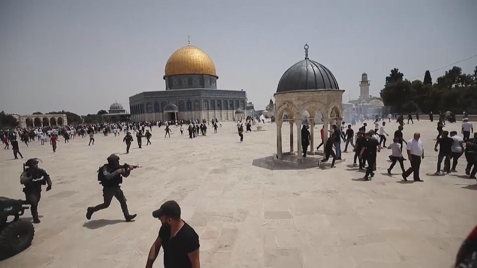 以色列警察和巴勒斯坦民眾再在阿克薩清真寺爆發衝突