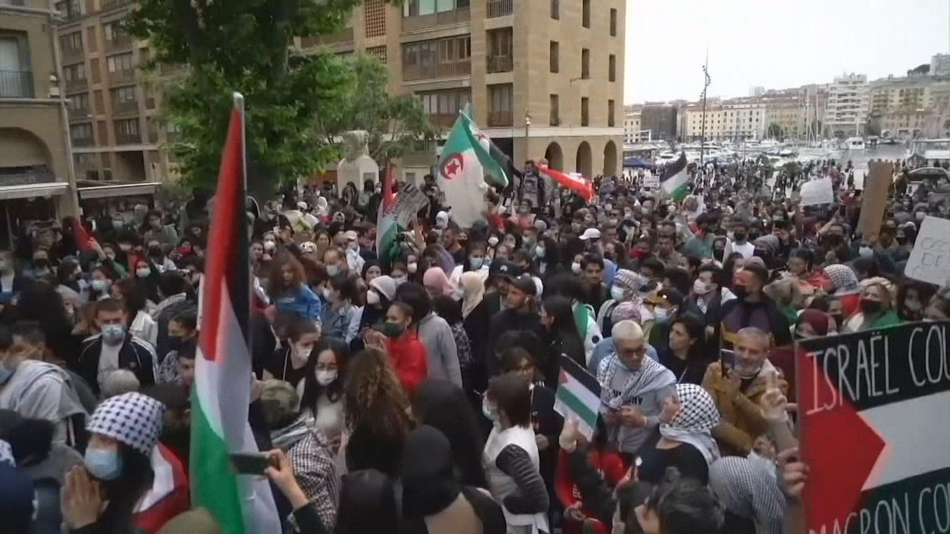 法國多個城市有示威聲援巴勒斯坦人 巴黎示威演變成警民衝突