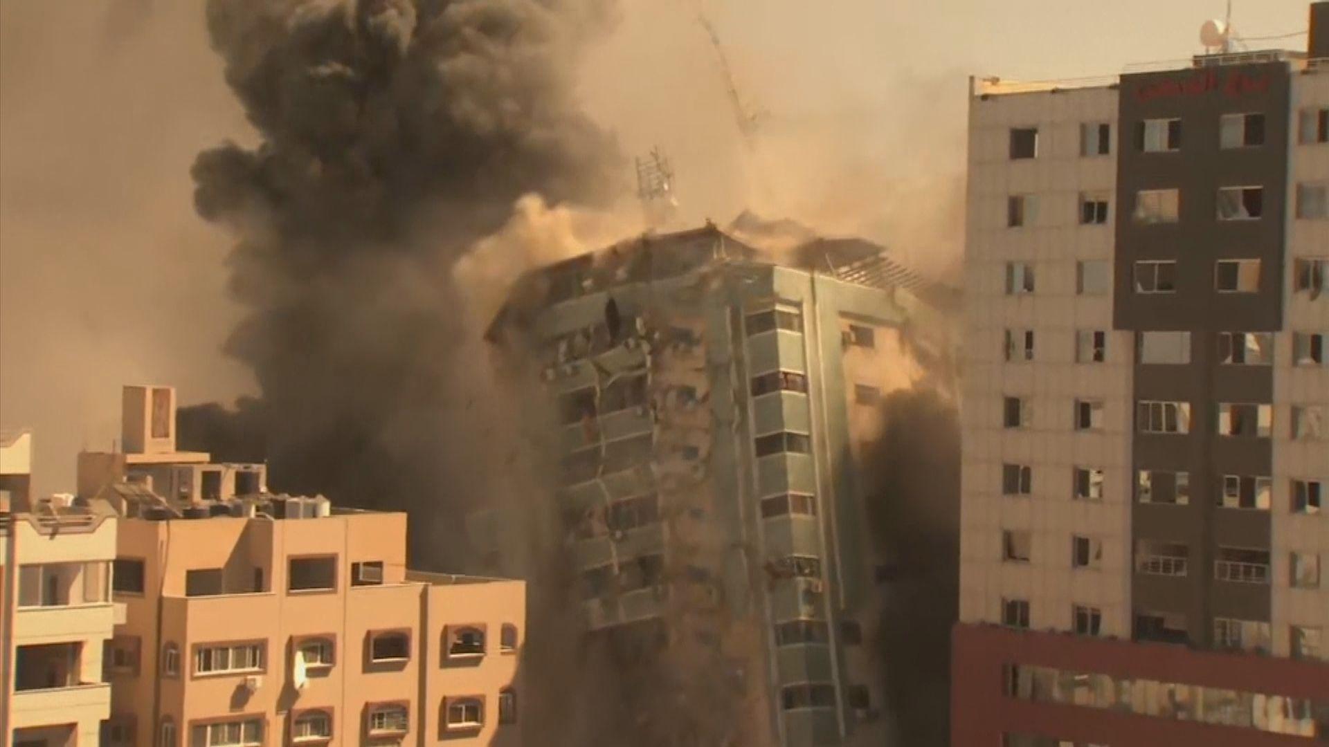 以巴衝突持續 美聯社等傳媒所在大樓被以軍炸毀