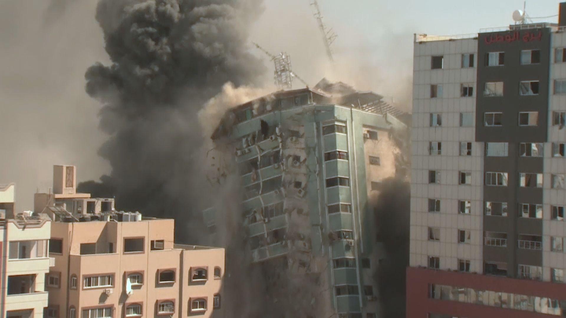 以軍空襲哈馬斯領袖寓所 同時炸毀加沙多條公路