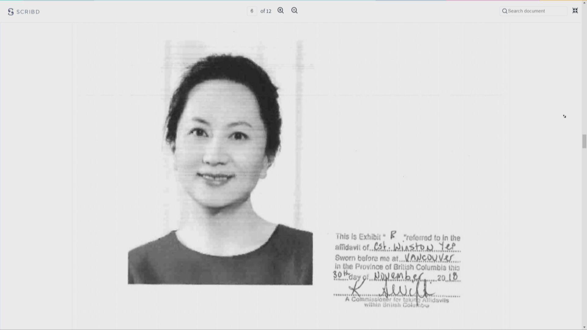 有學者質疑孟晚舟並非用最新發出的特區護照入境