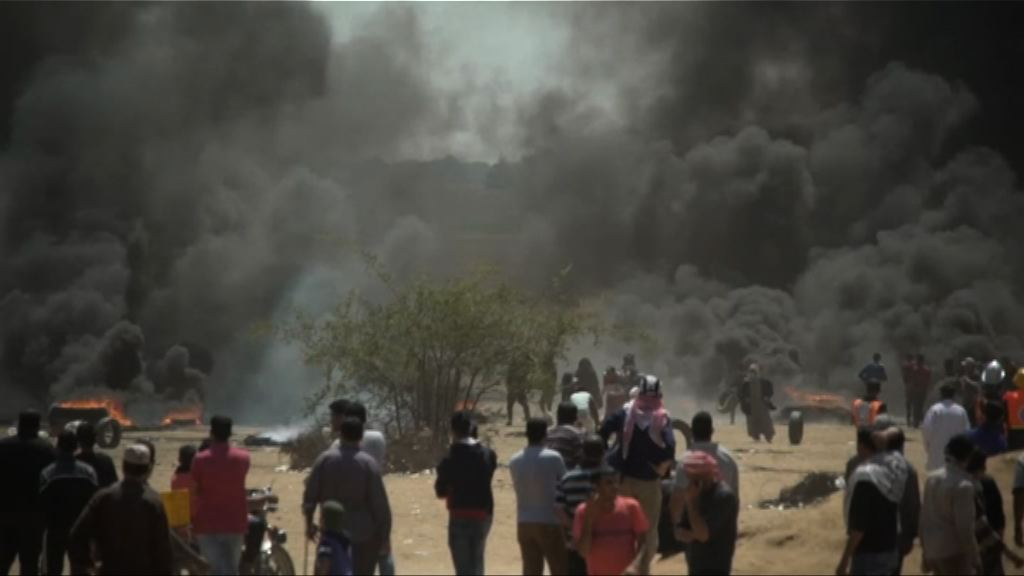 加沙邊境數萬人示威抗議美遷使館釀嚴重死傷