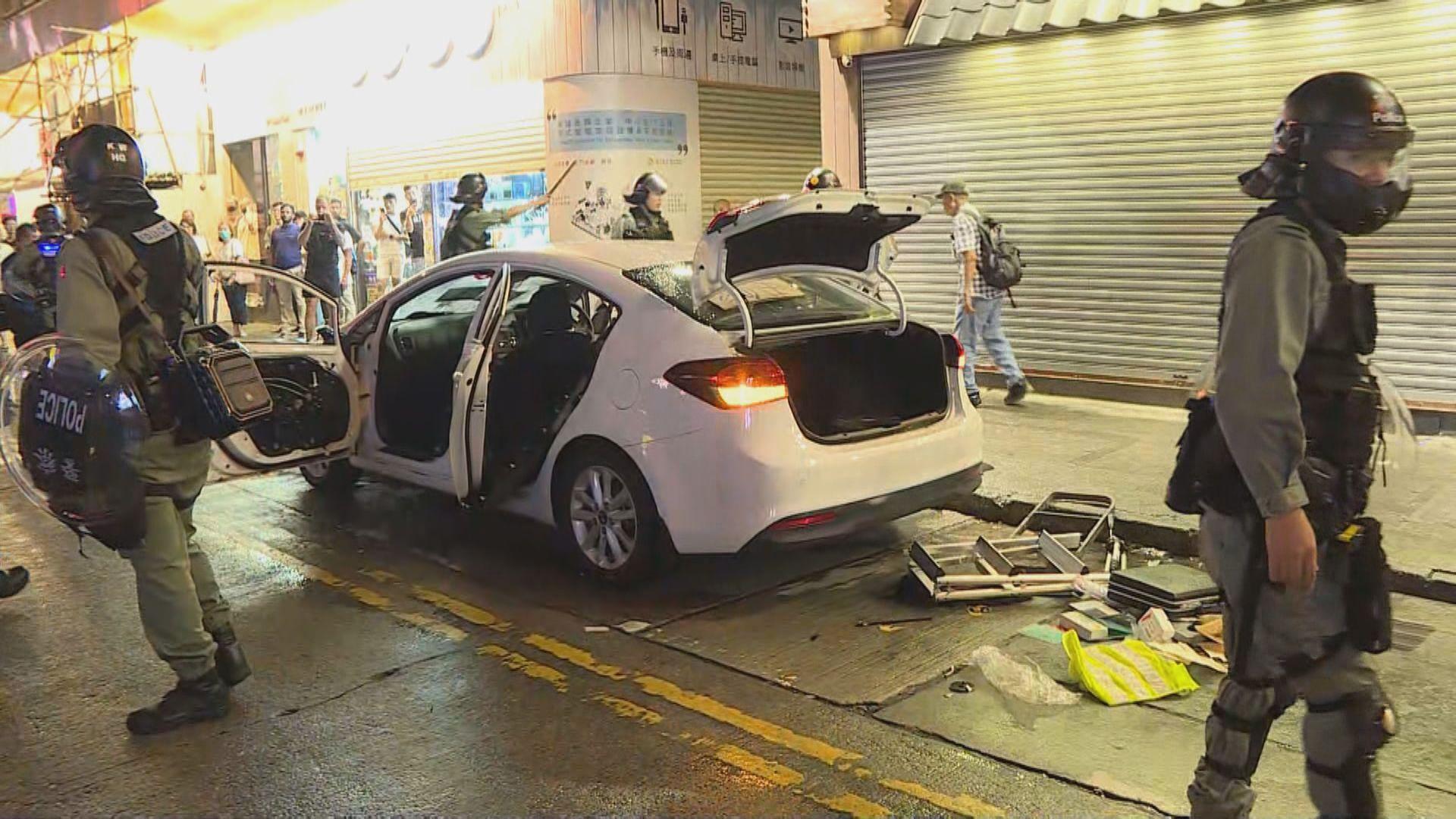 警方私家車旺角遭破壞