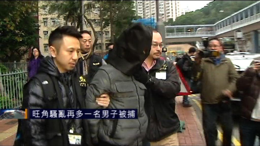 旺角騷亂再多一名男子被捕