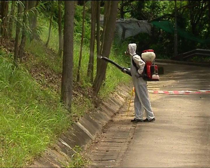 食環署在腦炎患者居所附近滅蚊