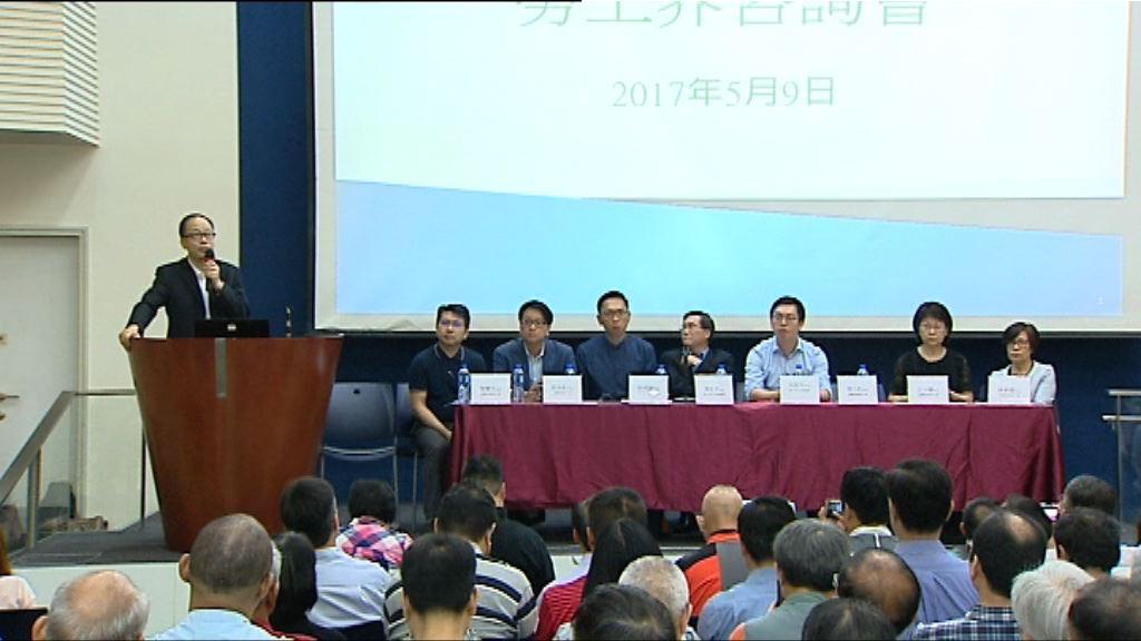 勞工界舉行諮詢大會討論取消對沖