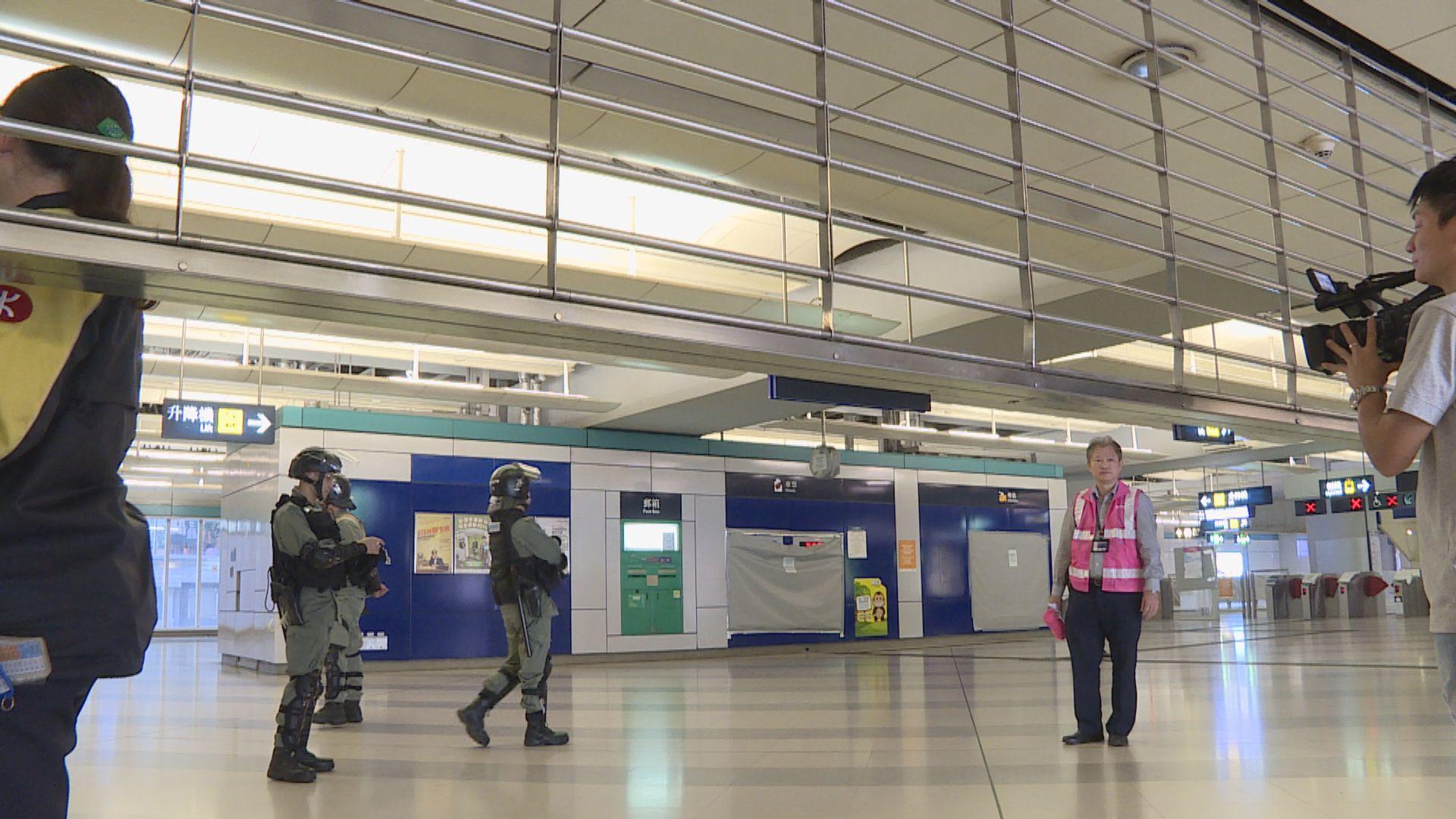 元朗站本月21日將如常運作