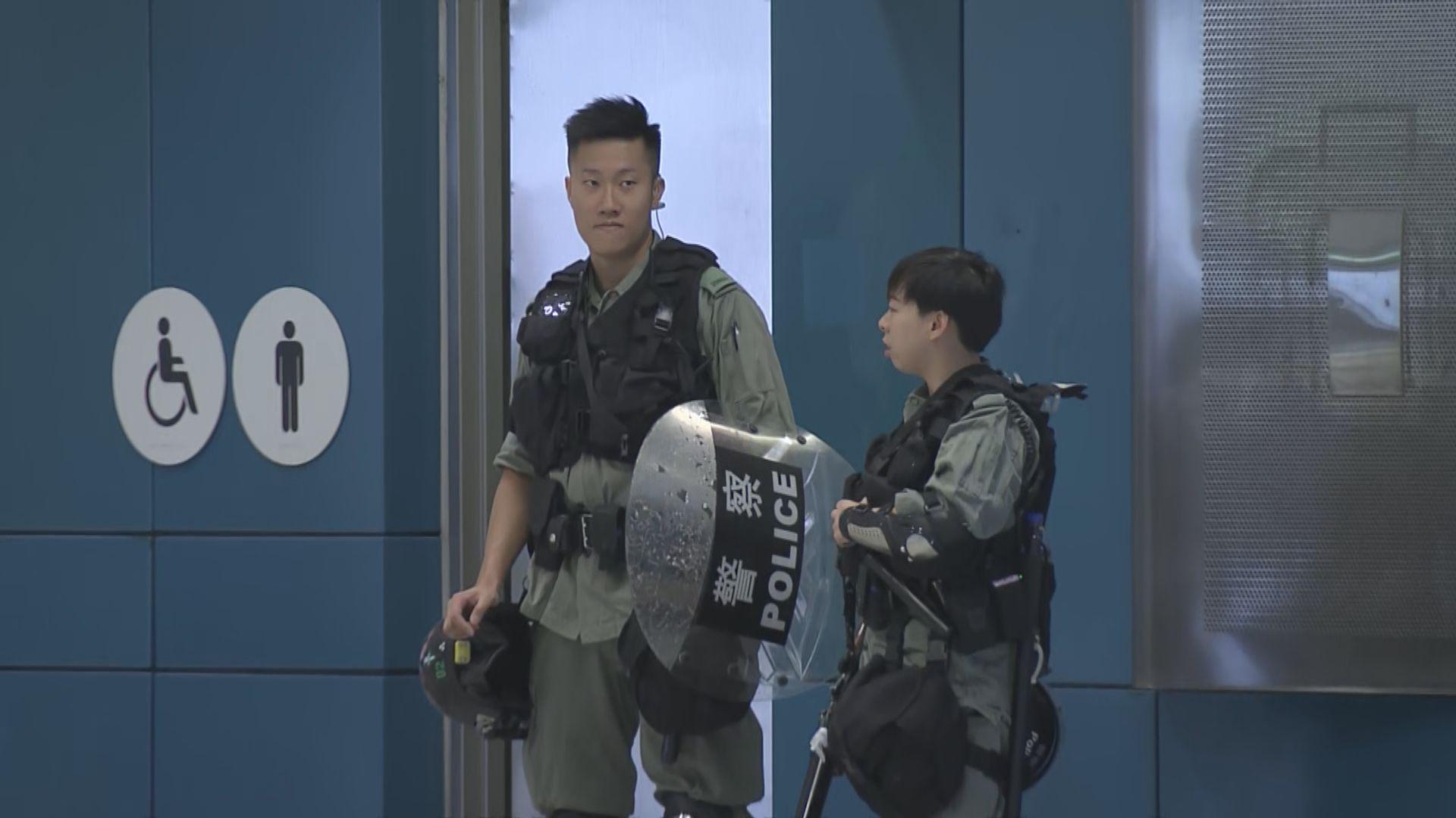 因應遊行港鐵屯門站下午一時關閉