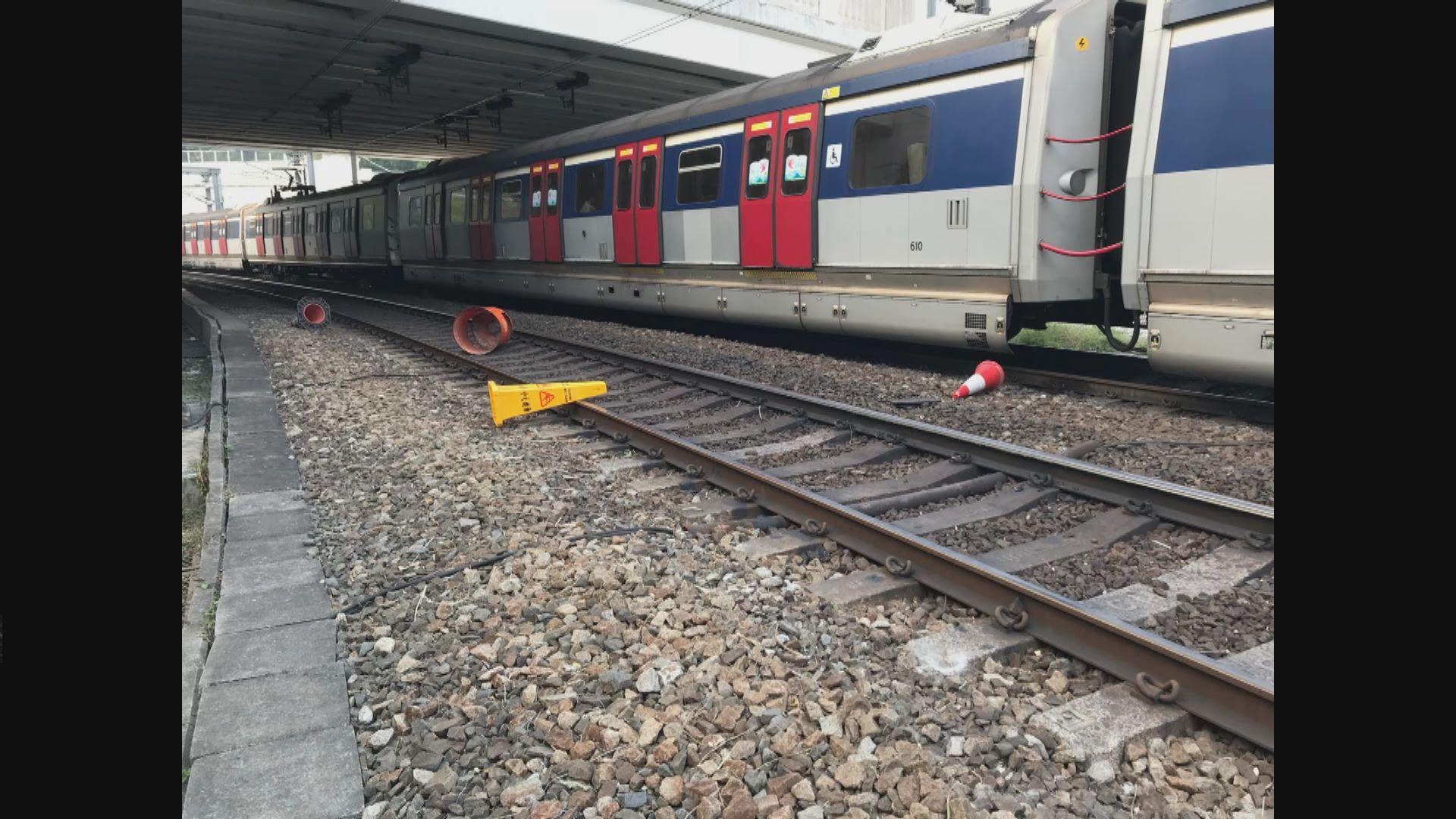 東鐵路軌發現雜物列車服務一度受阻