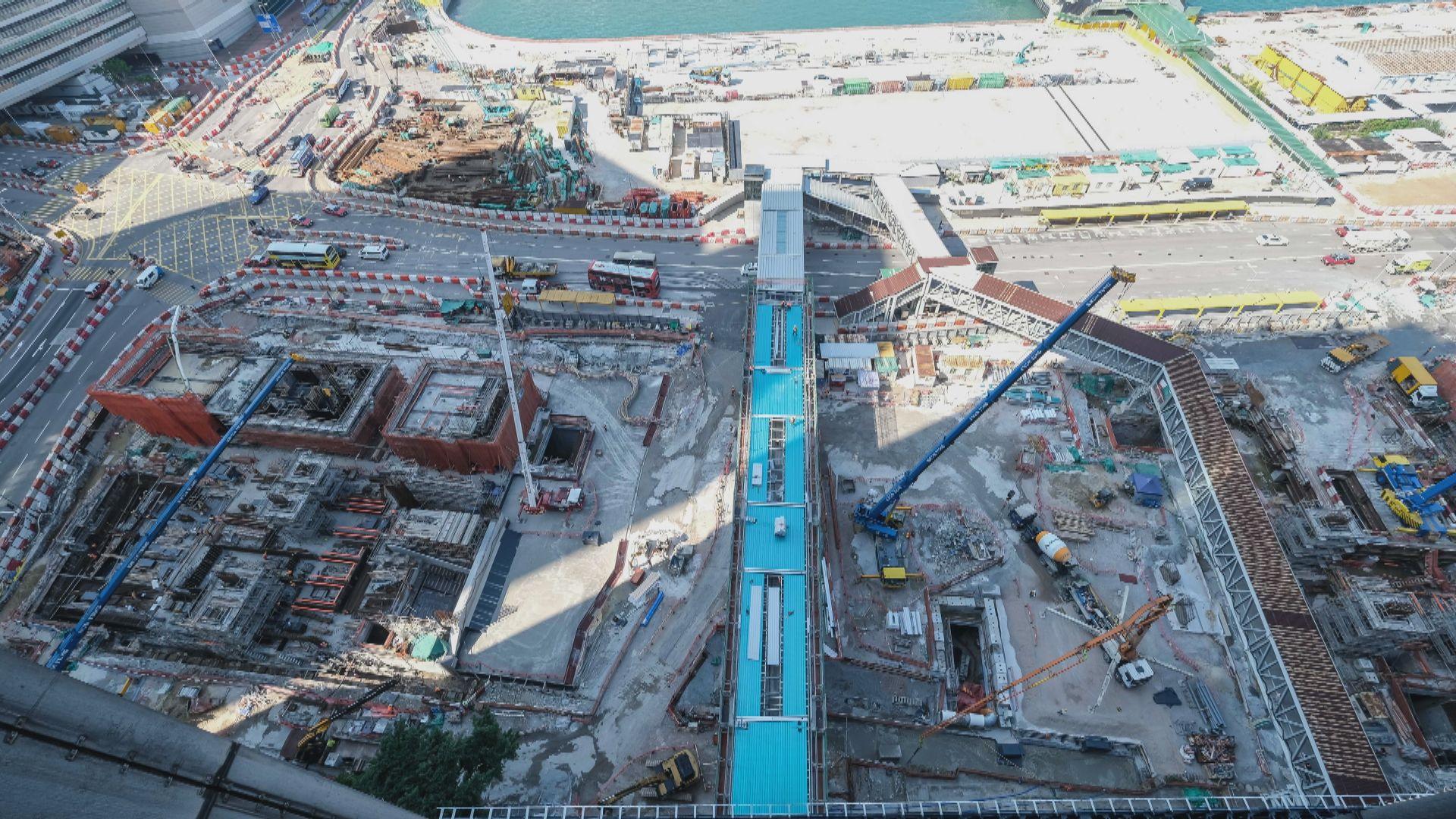 港鐵指會展站平頂 紅磡至金鐘段土木工程大致完成