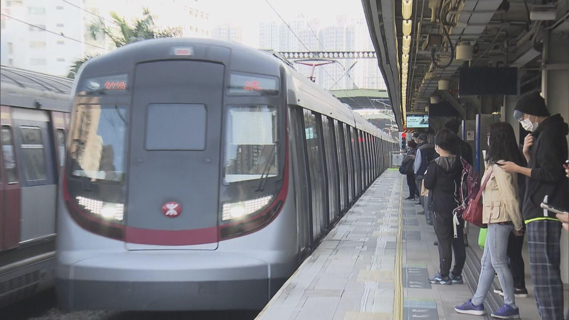 東鐵綫9卡列車旺角東站機件故障 服務一度受阻