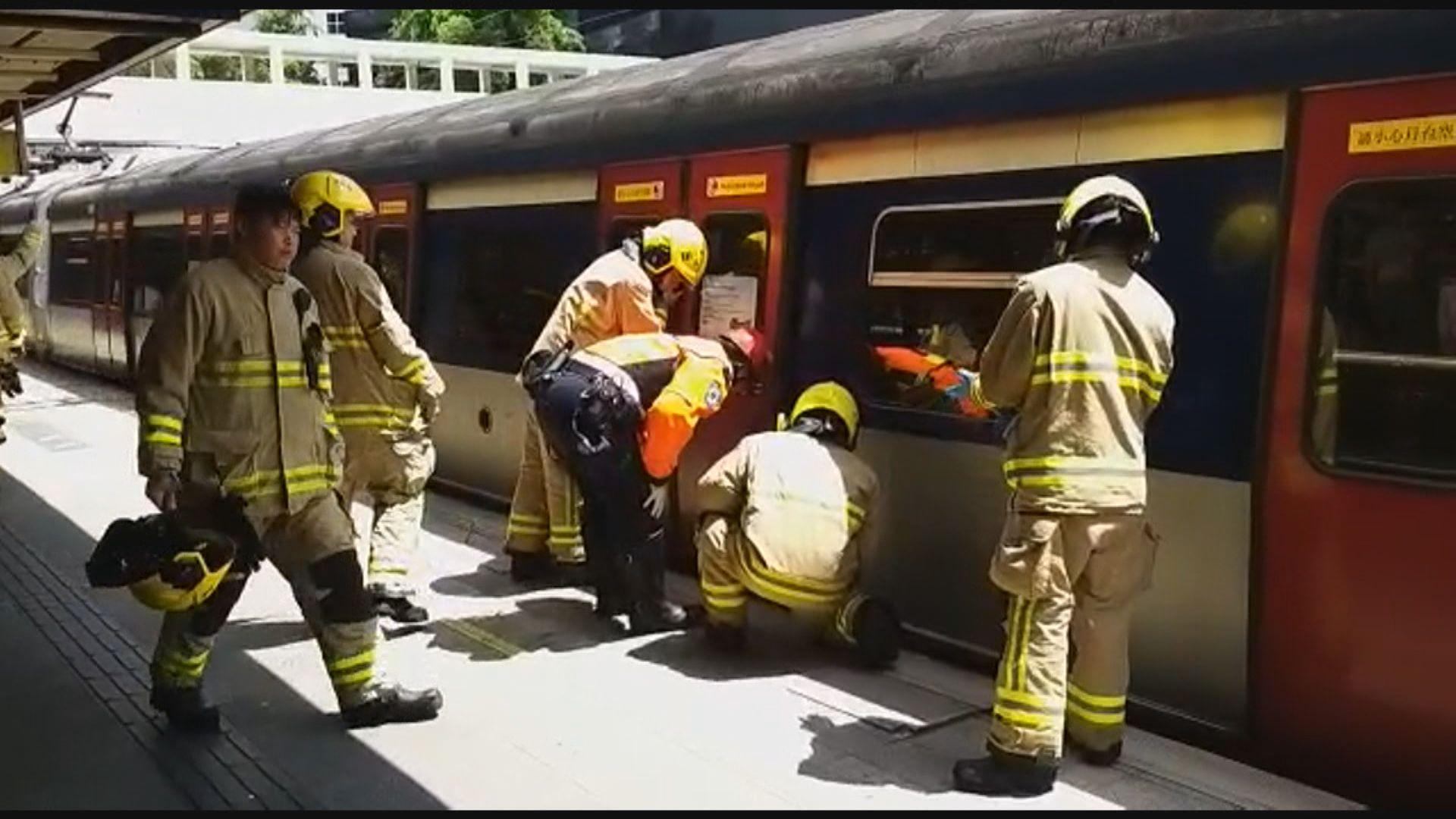 東鐵九龍塘站有人進入路軌 旺角東至大圍站列車服務暫停
