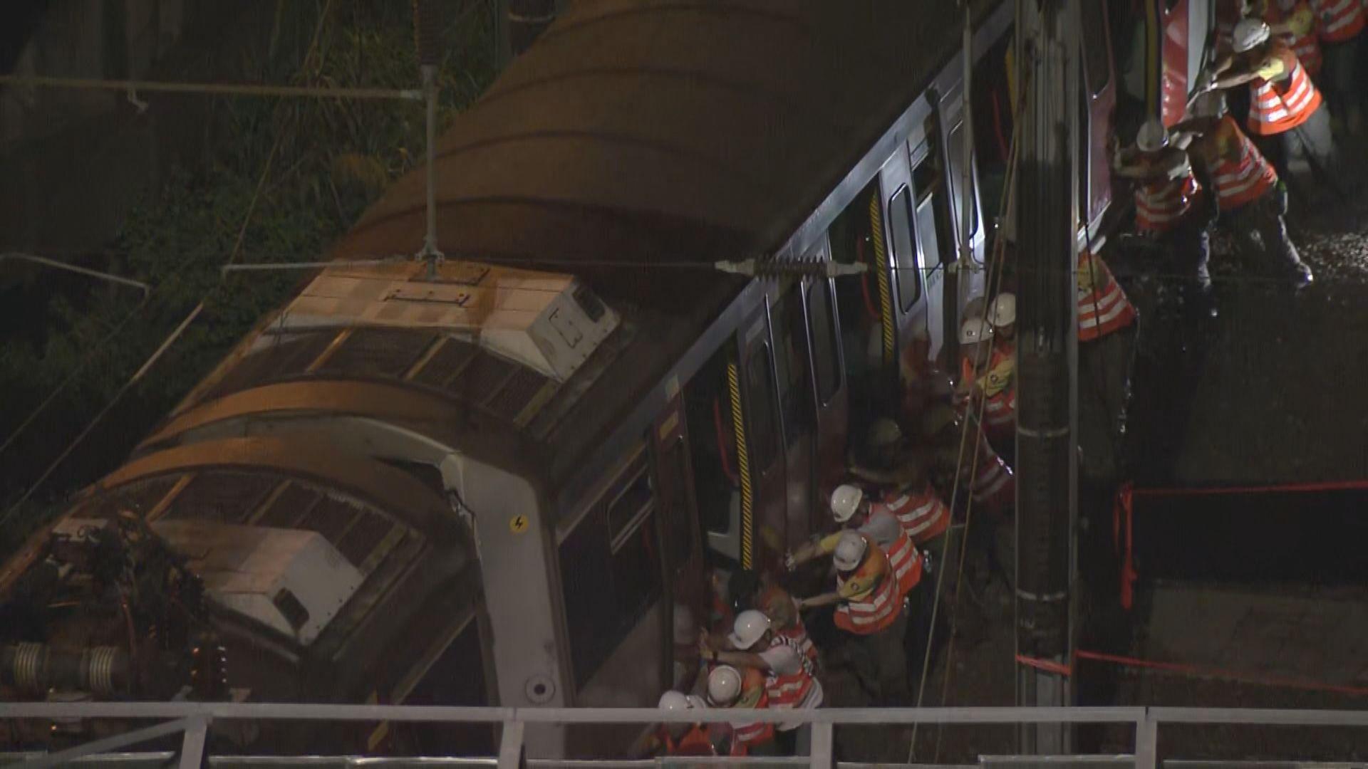 港鐵紅磡至旺角東站恢復列車維持七分鐘一班
