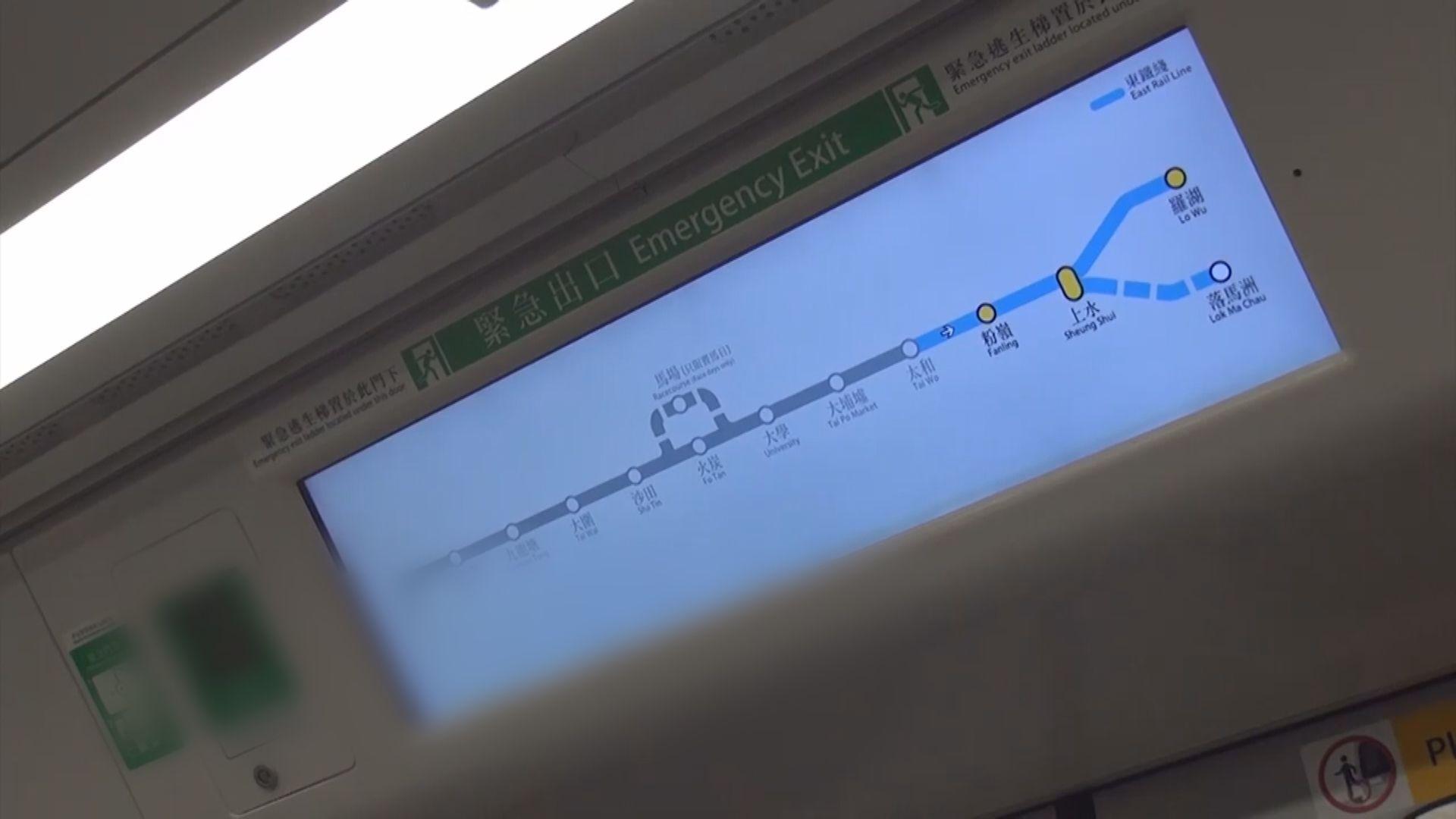 港鐵東鐵綫暫緩轉用新信號系統及新列車