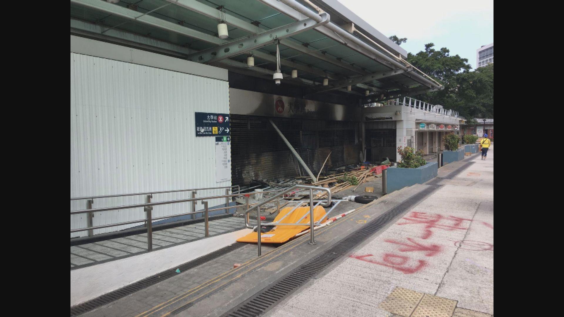 港鐵預計大學站需長時間檢查及評估