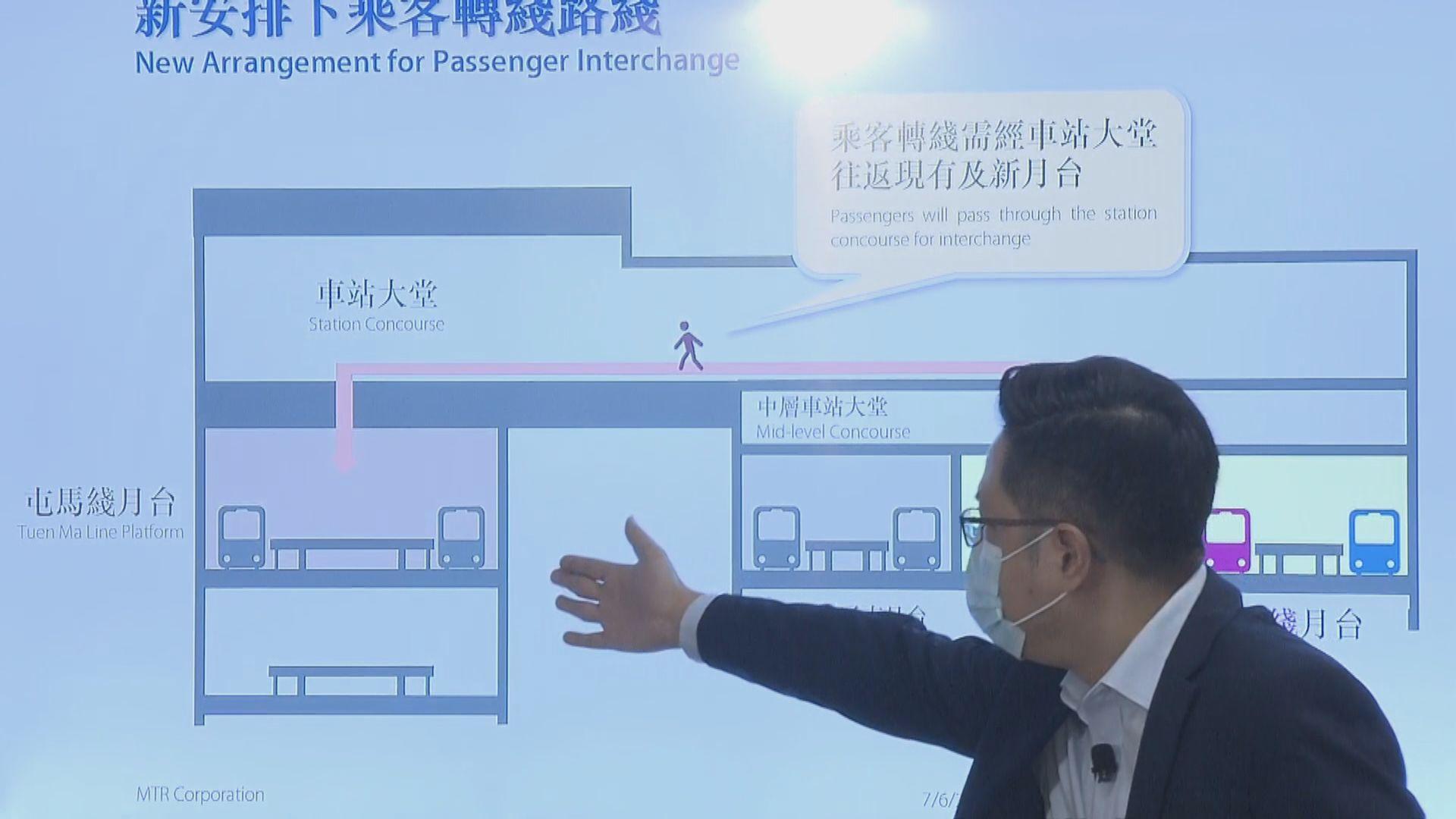 港鐵紅磡站本月20日啟用新月台 配合屯馬綫通車