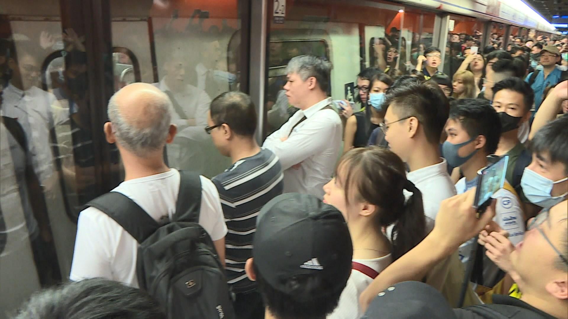 受不合作運動影響 港島綫服務受阻個多小時