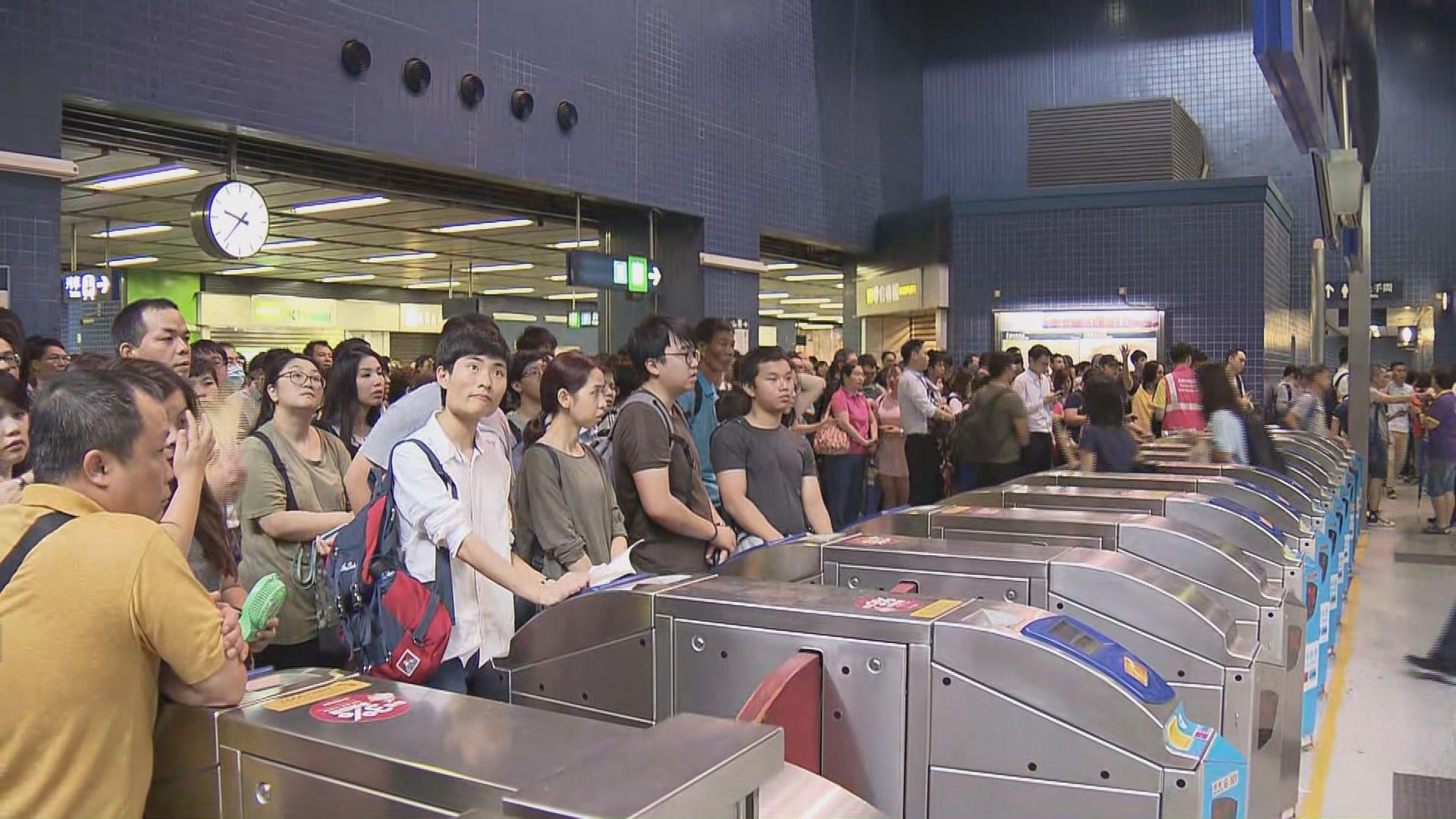 大圍站早上逼滿人 有乘客不滿列車班次疏落