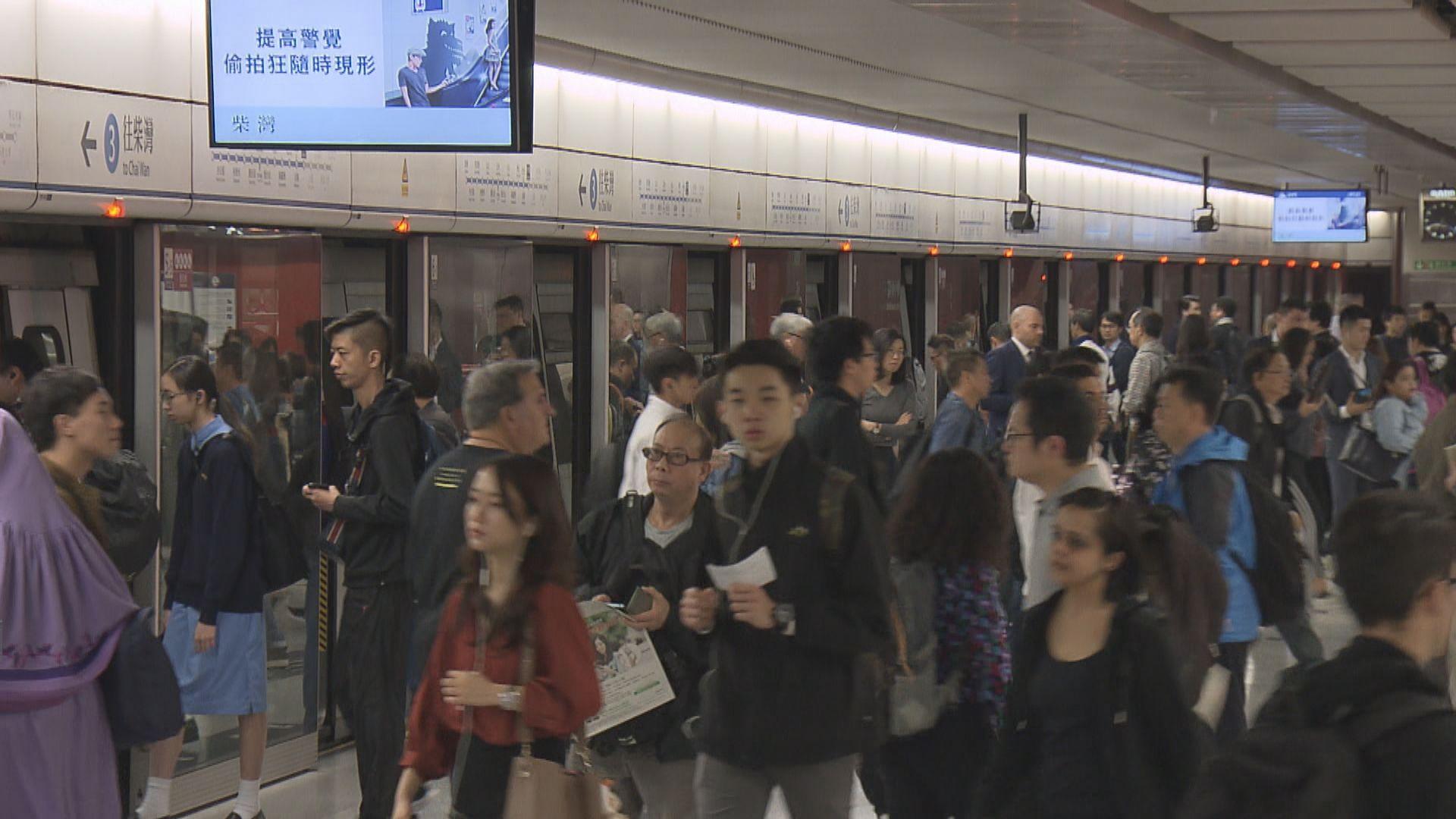 港鐵通宵服務 個別車站人潮管制