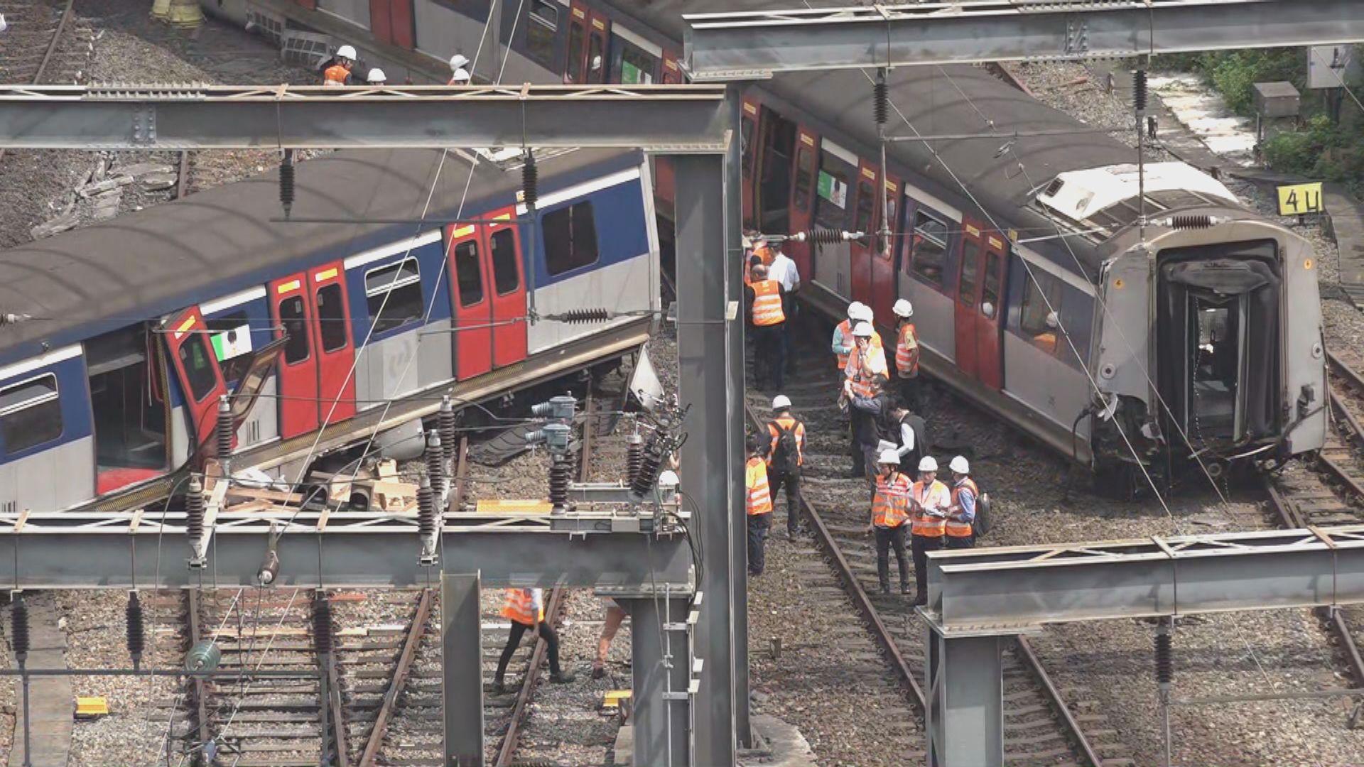 紅磡站出軌意外 港鐵調查指因軌枕損耗致兩條路軌軌距拉闊