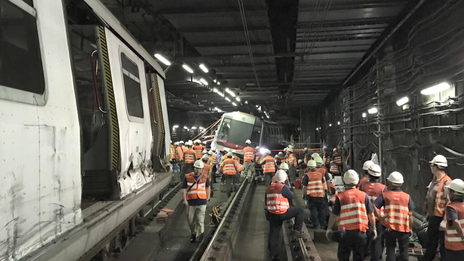 中環站列車相撞 港鐵指承辦商修改軟件有錯