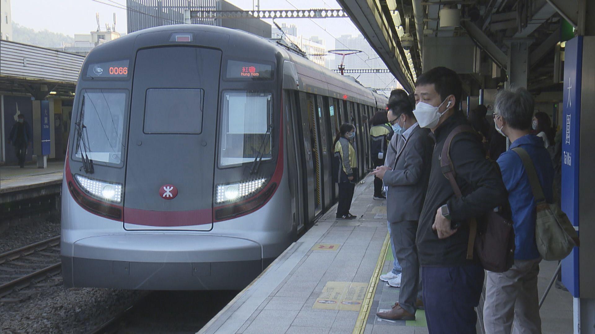 東鐵綫往來紅磡站至上水站服務回復正常