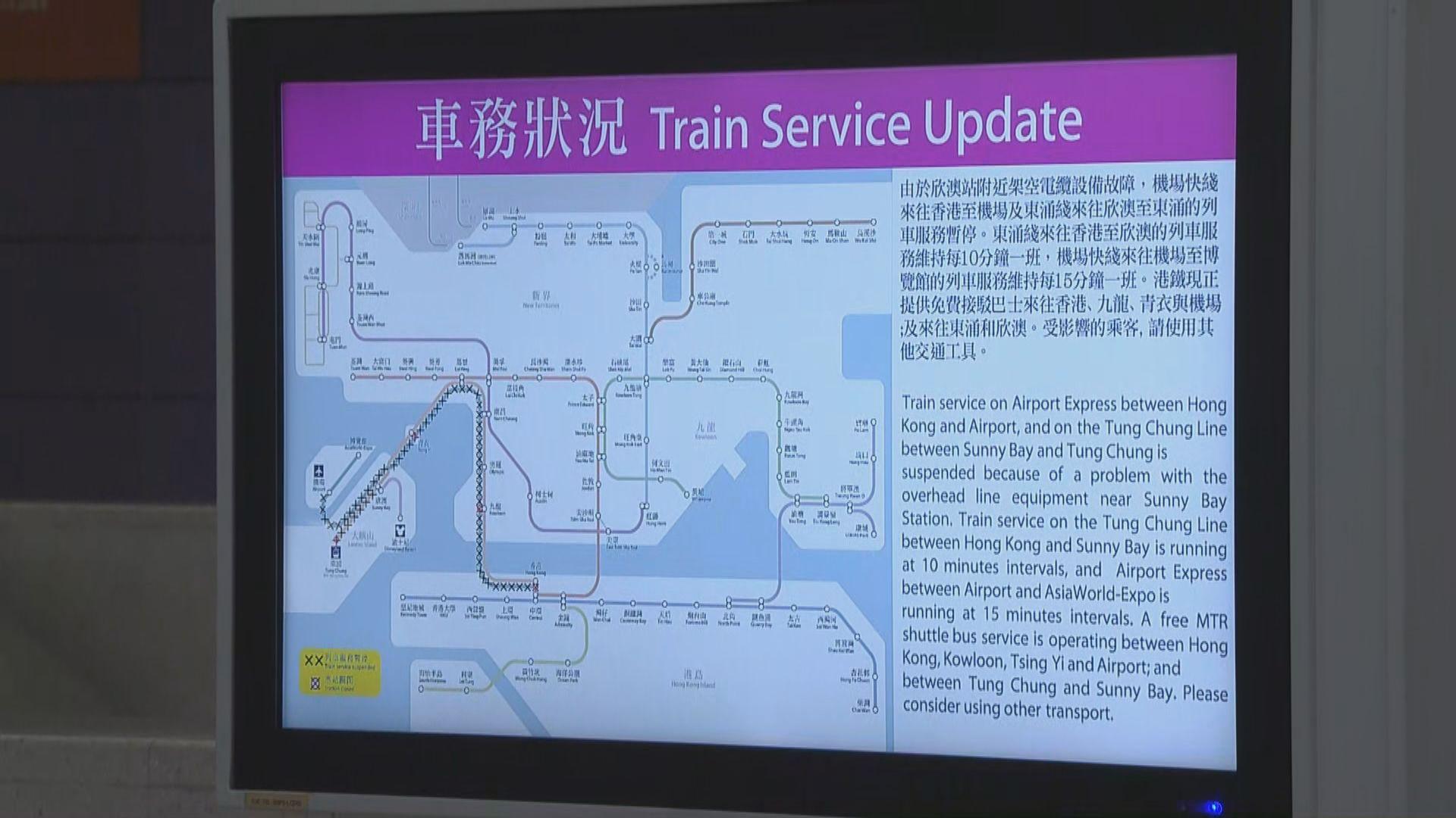 東涌一度無鐵路服務 巴士線大排長龍