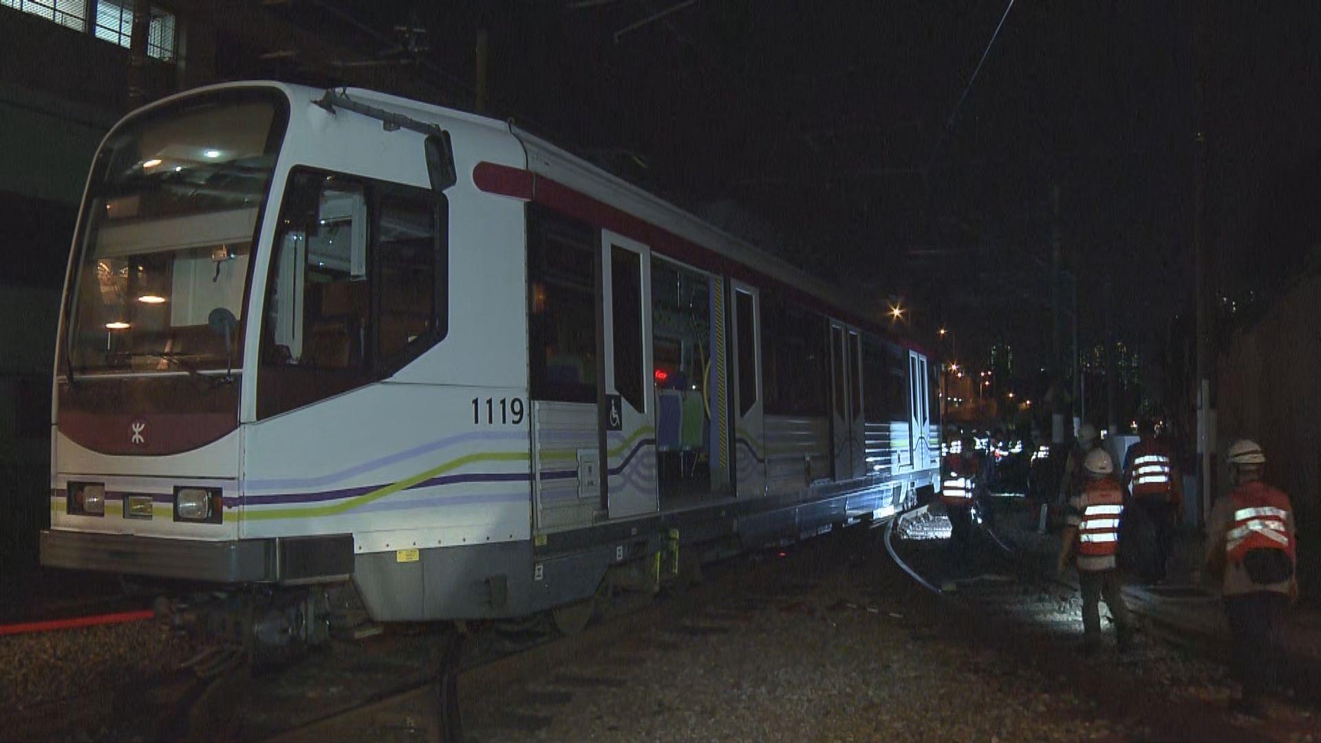 輕鐵兆康站列車出軌 無人受傷
