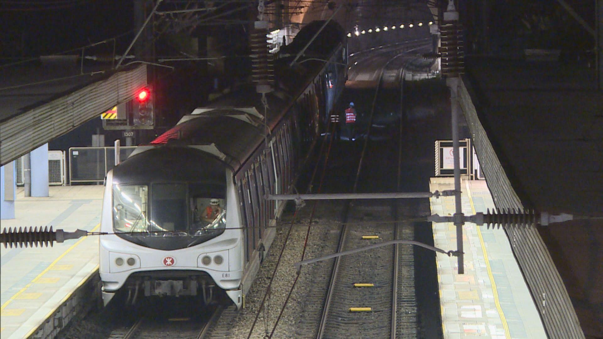 紅磡站號月台恢復使用 城際直通車如常服務
