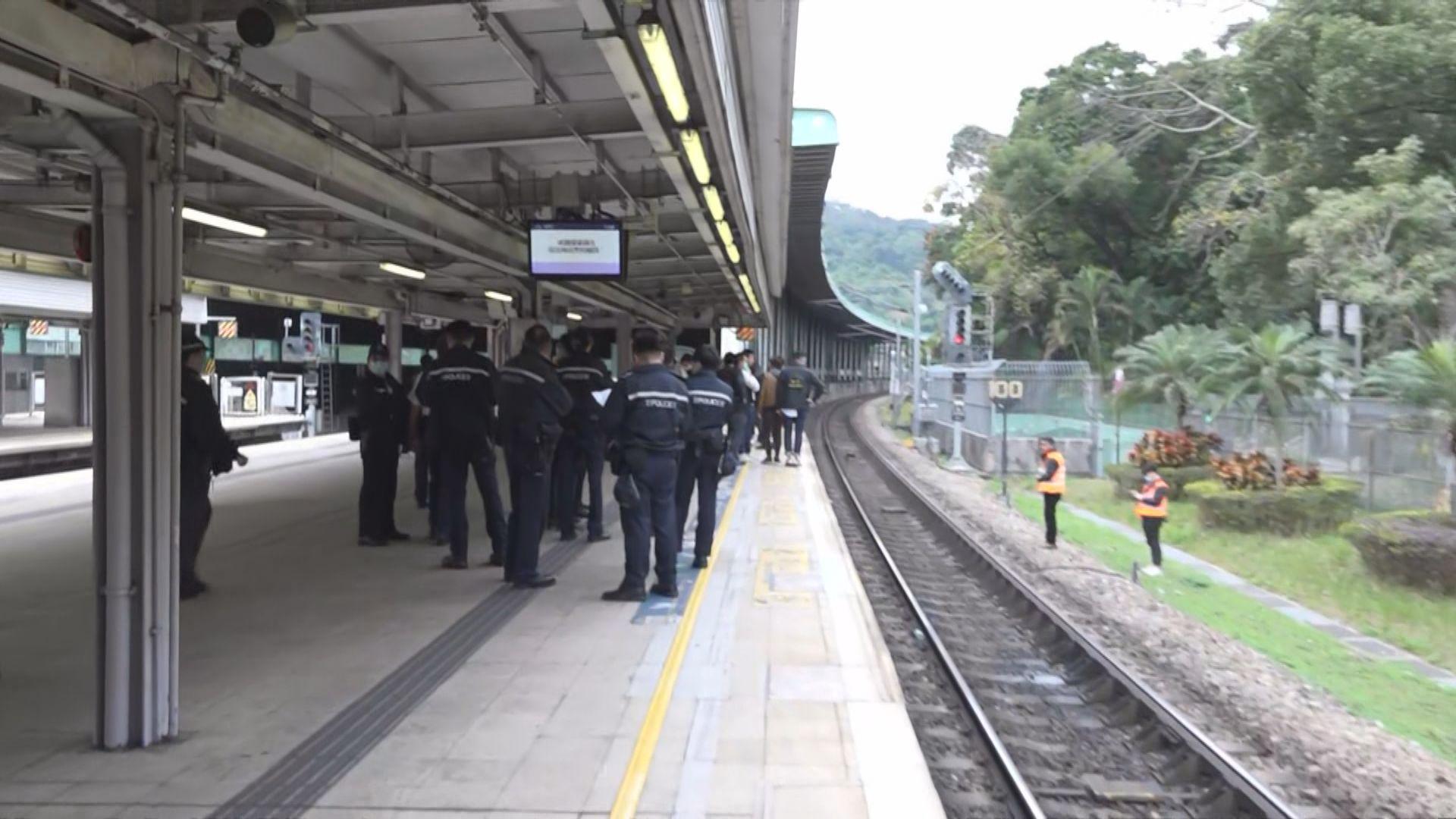 大埔墟站發現可疑物品 警方證實不是爆炸品