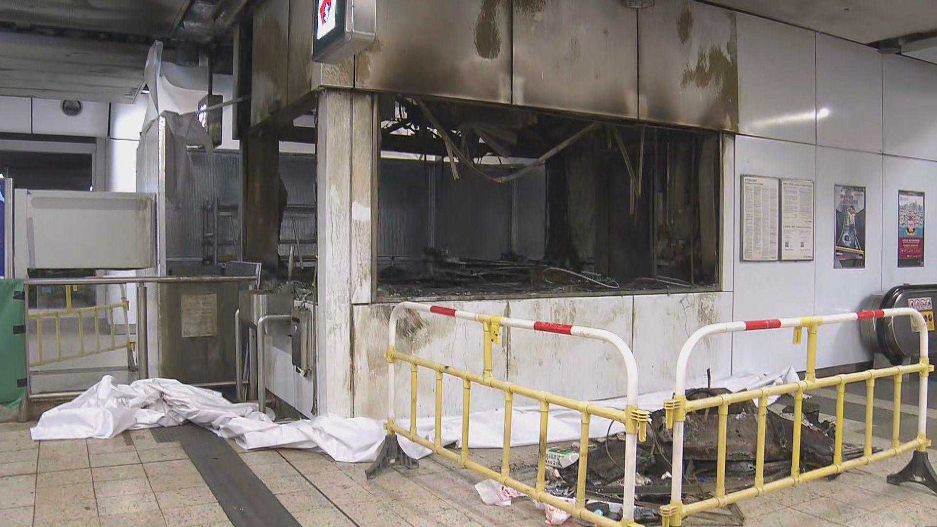 港鐵安排傳媒拍攝旺角及觀塘站損毀情況