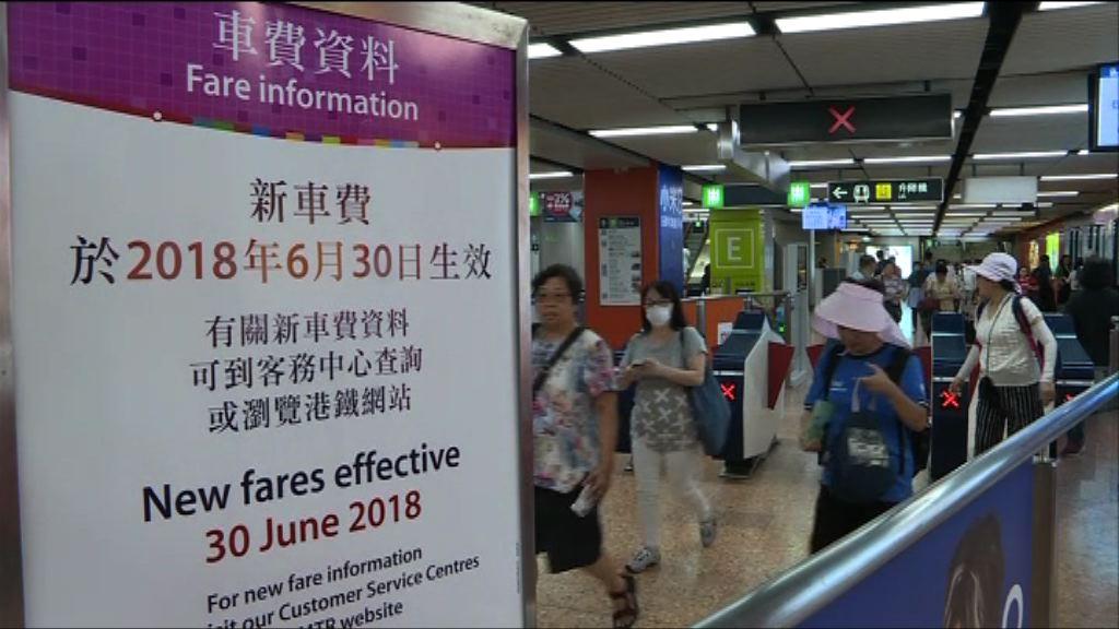 港鐵車站設通告提醒即日起加價
