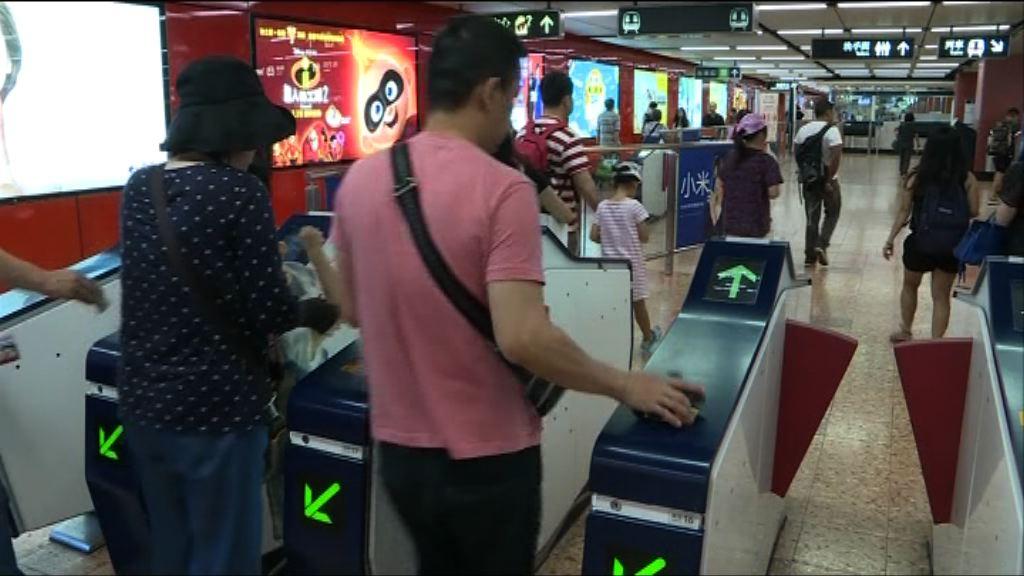 港鐵即日起加價平均3.14%