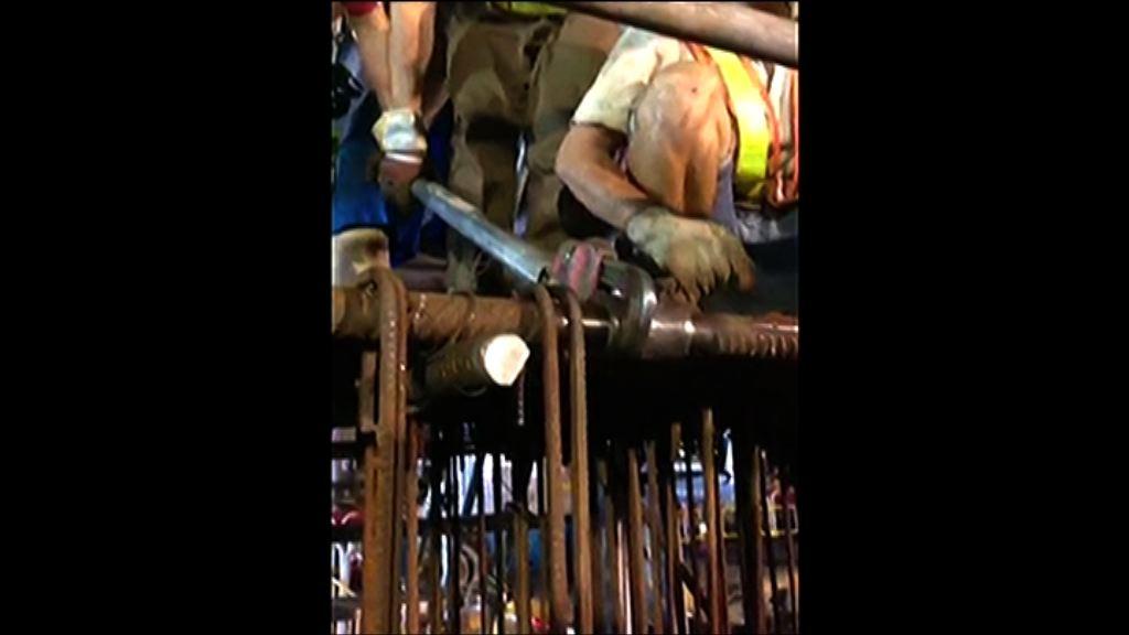 紮鐵工質疑紅磡站鋼筋未接駁好將導致移位