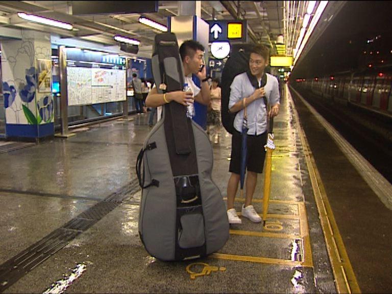 港鐵下月推試驗計劃 允大型樂器入閘