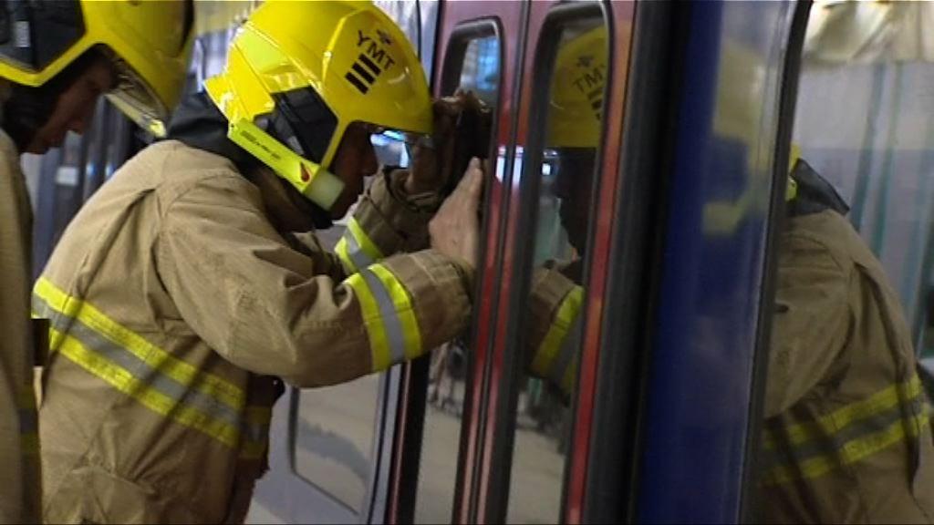 東鐵列車一度冒煙 消防相信因壓縮器過熱