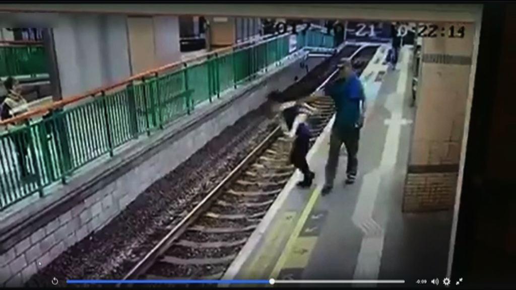元朗輕鐵月台女工遭推落路軌